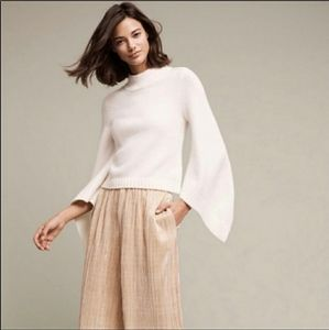 Anthropologie Moth Sweater W/Cut Out & Bellsleeves